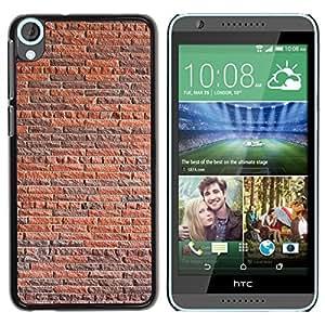 LASTONE PHONE CASE / Slim Protector Hard Shell Cover Case for HTC Desire 820 / Wall Brick Rustic Orange Brown Architecture