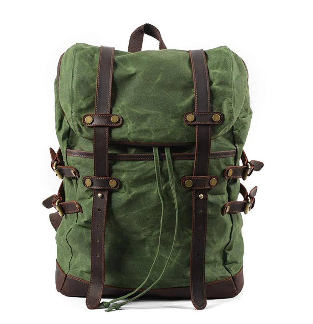 WY-AYNG Bolsa De Viaje Al Impermeable, Aire Libre Impermeable, Al Mochila De Montañismo/Camping / Viaje De Negocios, Lona con Capa De Cuero Respirable/Resistente Al Desgaste,Verde d54825