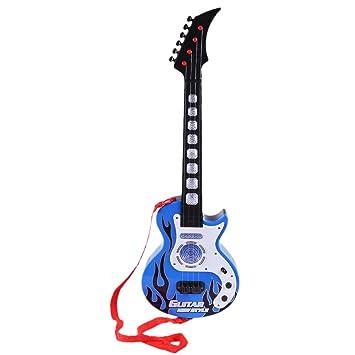 Mecotech Guitarra Electrica Niño, 4 Cuerdas Guitarra Juguete ...