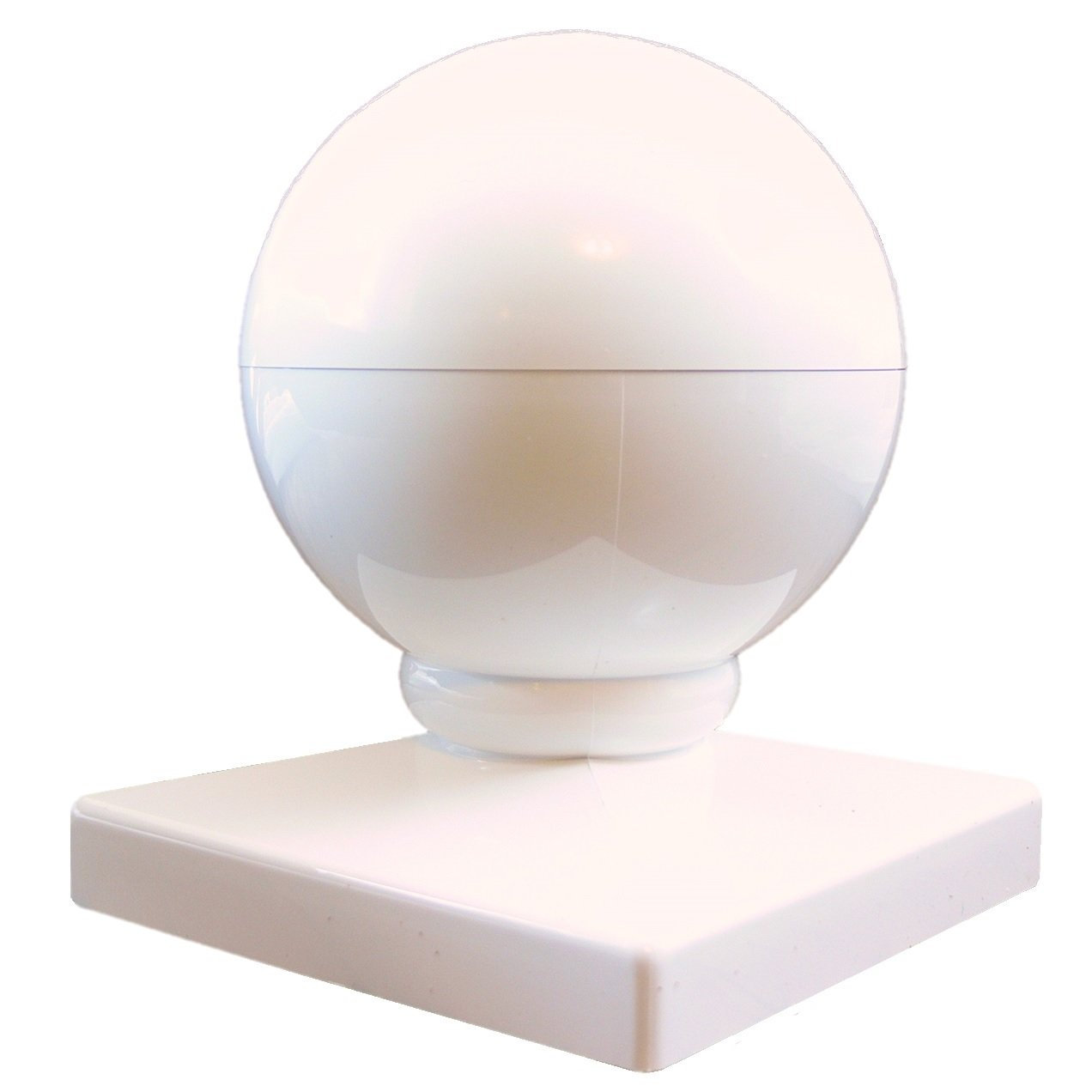 Amazon vinyl fence post cap 5 ball cap 5 inch dome style amazon vinyl fence post cap 5 ball cap 5 inch dome style white vinyl fence parts fits over a 5x5 vinyl fence post sleeve style post vinyl baanklon Image collections