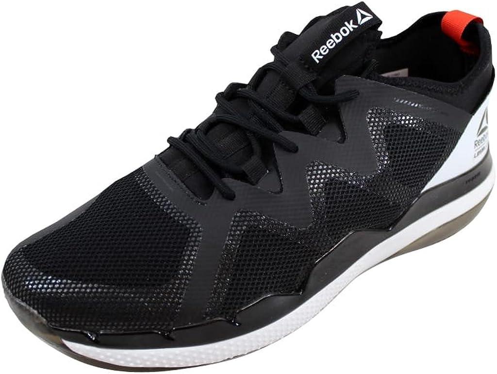 Reebok BS7278 Men's LES Mills Bodypump 100 Ultra 4.0 Shoe, BlackCaroteneWhite