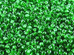 Matubo Checa Perlas de Cristal 7/0 (3.5 mm) 10 gr (aprox. 220 unidades),, color: chrys Olite