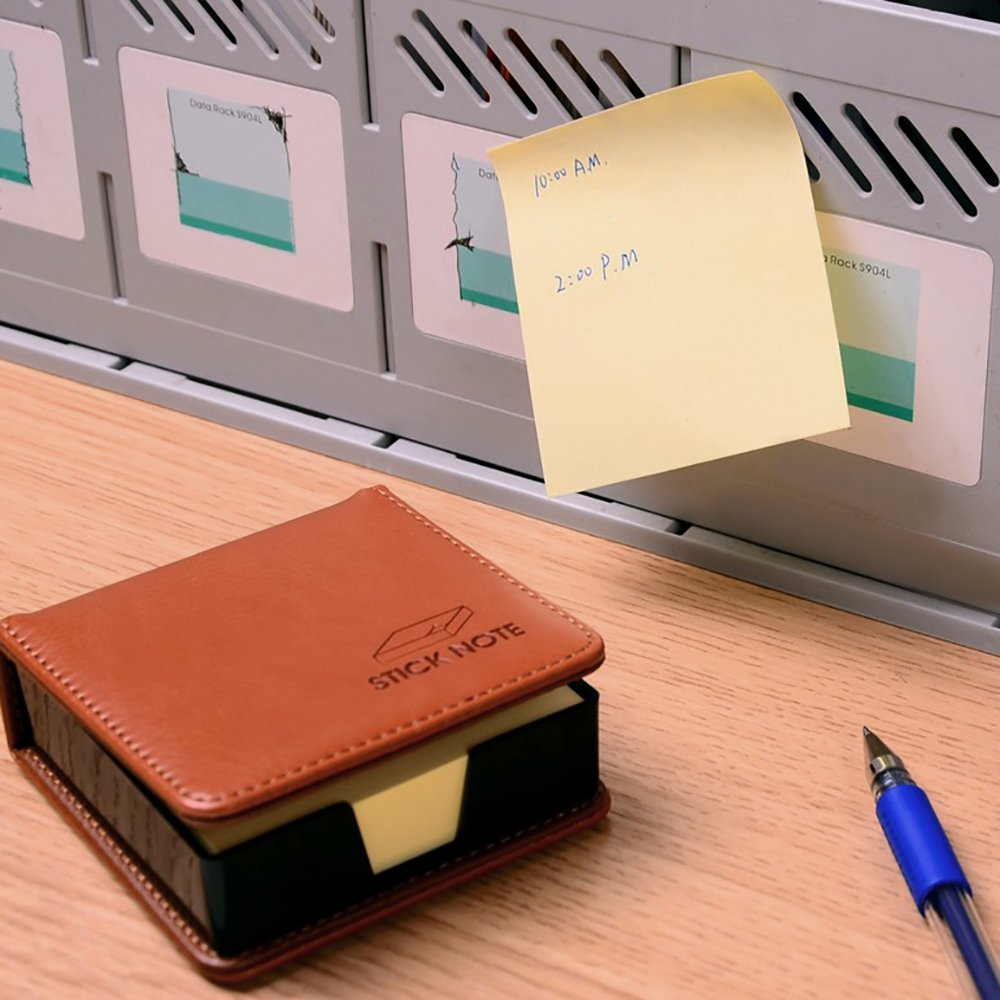 MyLifeUNIT Business Sticky Notes Holder with 3 x 3 inch Sticky Note, 3 Pack (Black) by MyLifeUNIT (Image #6)