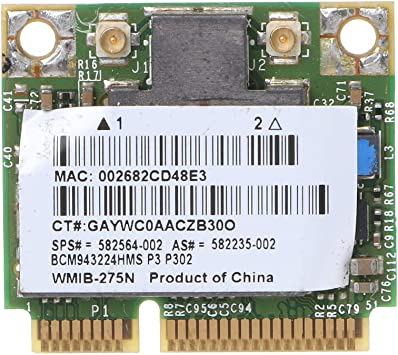 HP BCM943224HMS 300M 5G Wlan Card SPS:582564-001