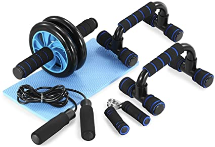 Cuerda ... Kit De Rodillo De Rueda Ab 3 En 1 Ab Roller Pro Con Barra De Empuje