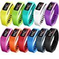 SKYLET Colorful Fitness Replacement bands for Garmin Vivofit(No Tracker) by SKYLET