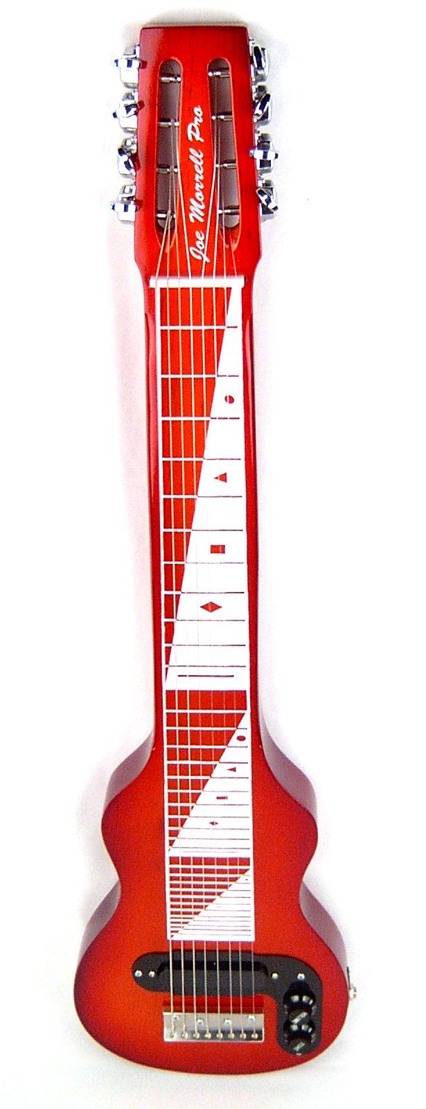 Joe Morrell Pro Series Maple Body 8-String Lap Steel Guitar - Cherry Sunburst Finish USA