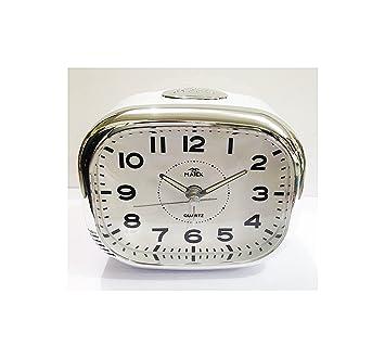 Reloj despertador con luz y retraso | movimiento silencioso | Suoneria sobre timbre | Matex: Amazon.es: Hogar