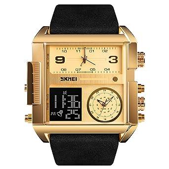 LONGQI - Reloj analógico Digital para Hombre con 3 ...