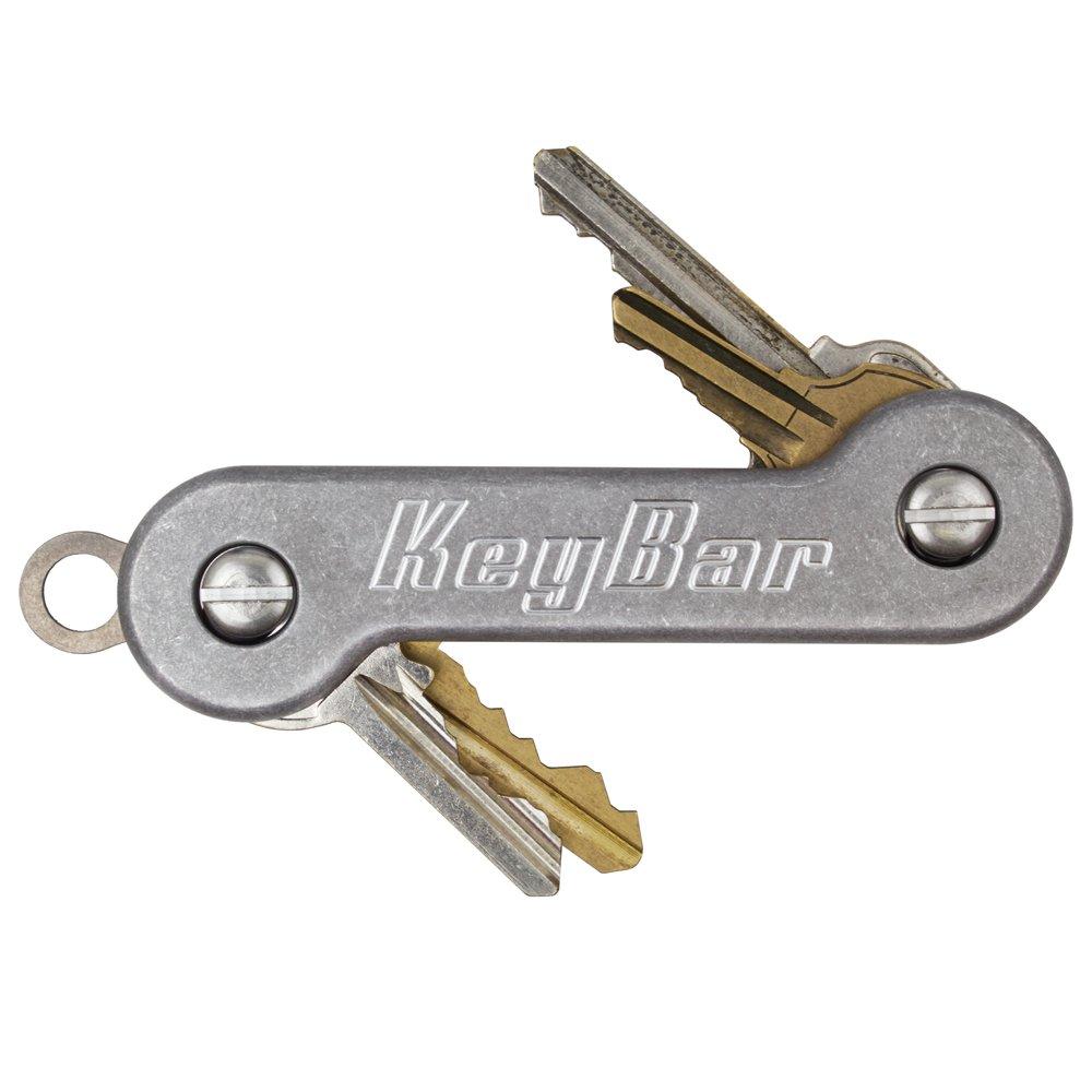 Stonewashed Aluminum KeyBar Key Organizer