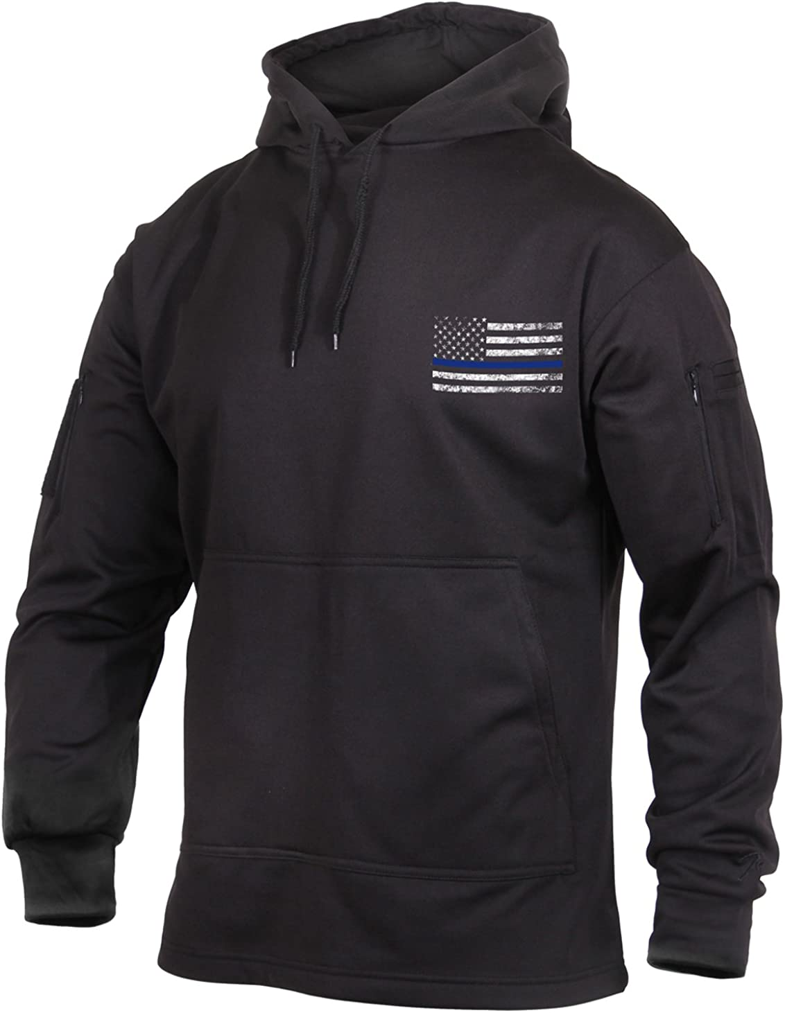 Rothco Thin Blue Line Concealed Carry Hoodie: Clothing