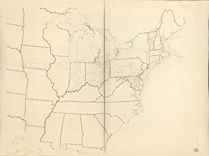 Amazon.com: Vintage 1941 Map of Underground Railroad map of The ...