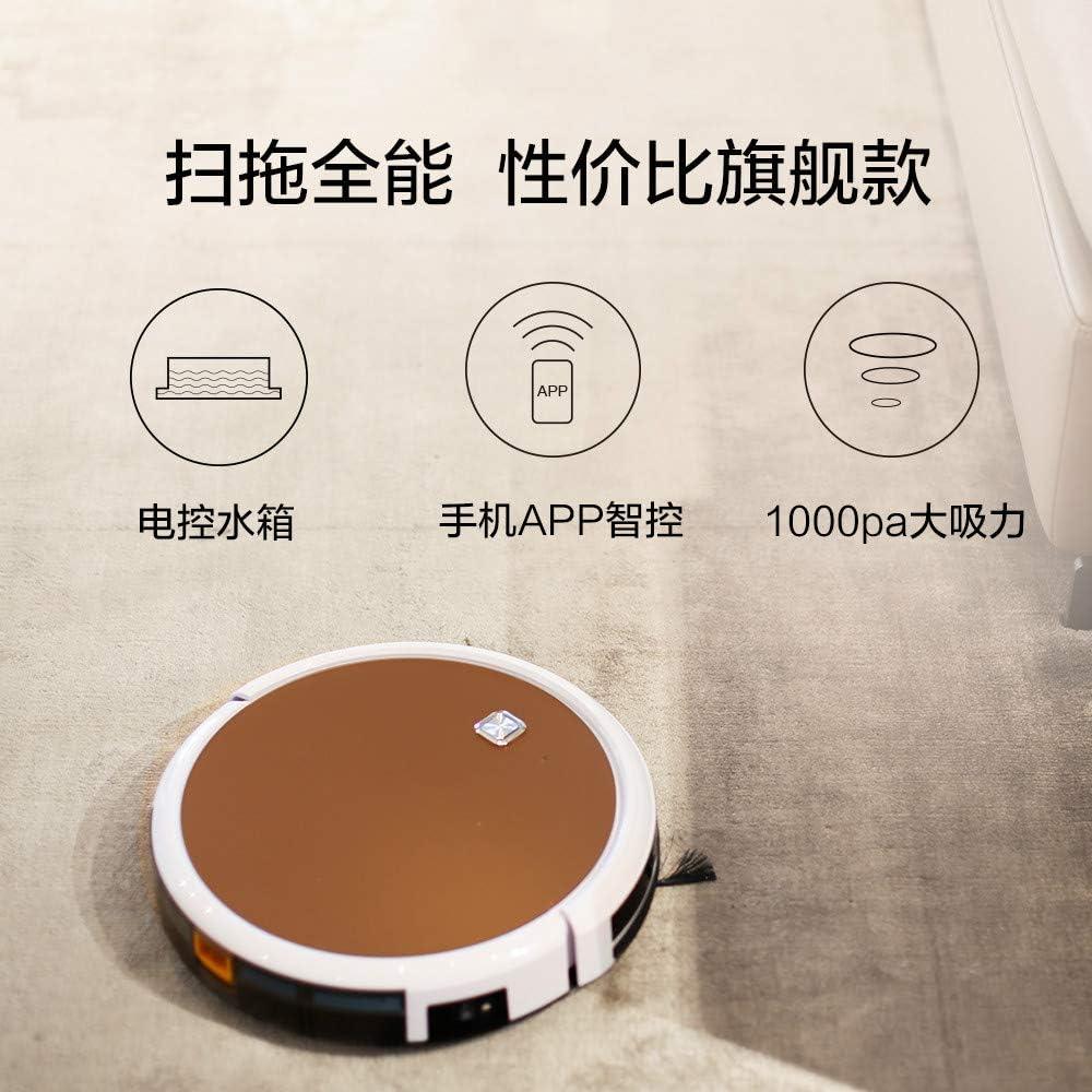 ZLAHY Robot de balayage Robot de balayage Household Mute Entièrement automatique intelligent Ultra-mince Mini Nettoyer le sol Un aspirateur, brun Marron