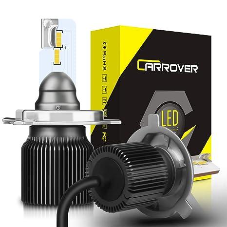 Bombillas H4 LED, Faros Delanteros Luces Lámparas para Coche y Moto, 8000LM, 6500K