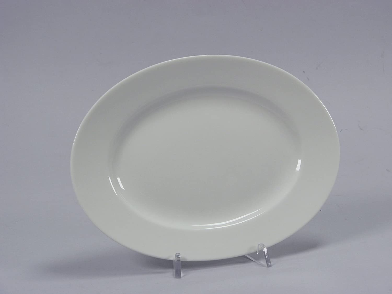 H+H Lorel Oval Auflaufform Bone China Porzellan wei/ß 24/cm