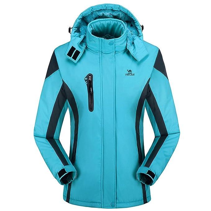 toyobuy mujeres invierno impermeable montaña polar cortavientos senderismo chaqueta de esquí: Amazon.es: Ropa y accesorios