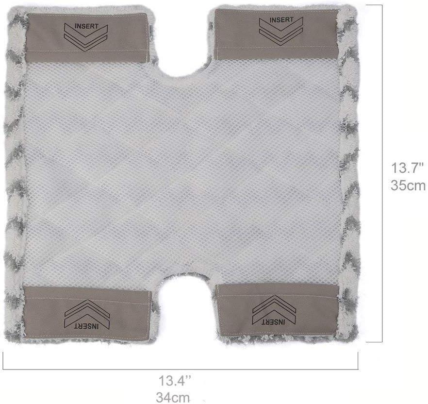 4 Pack S5002 Steam Mop Pads for Shark Klik n Flip S6001UK S3973WM Flip Replacement Cover Pads S3973D S6003UK S5001 S6002 S5003D