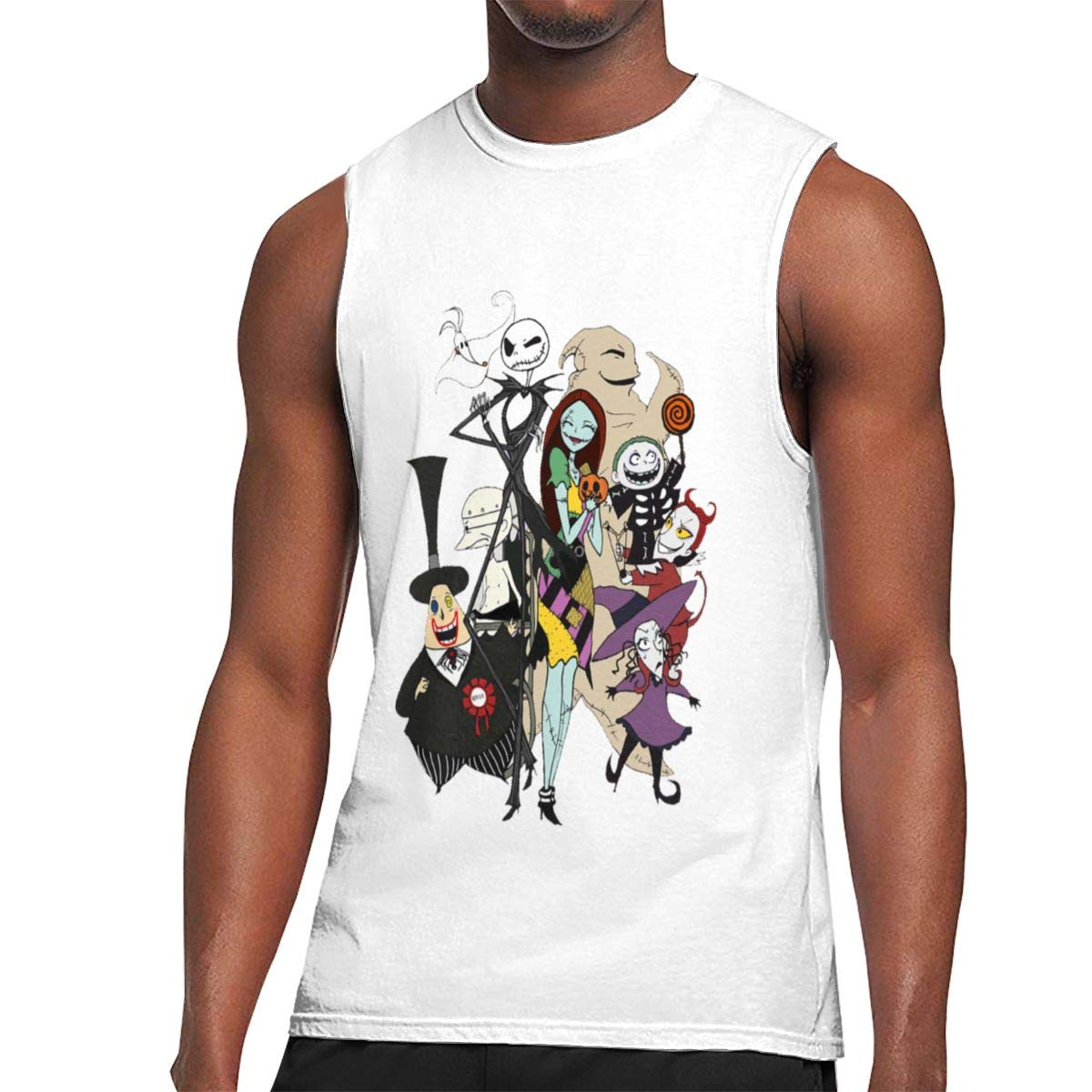 Seuriamin The Nightmare Before Christmas S Casual Sports Sleeveless Muscle Short Sleeve T