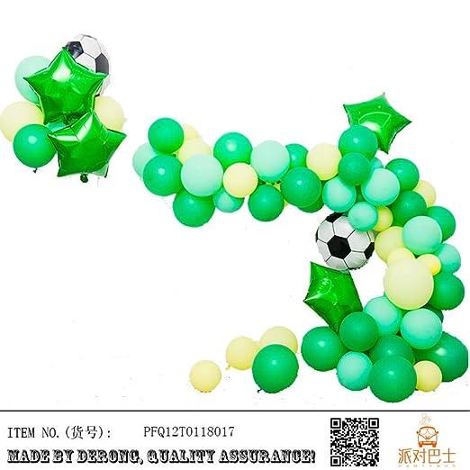 Conjunto de globos serie deportiva fútbol baloncesto látex ...