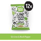 Human Bean - Faba Beans (Fava Beans) Vegan Friendly, Nut free, Dairy free & Gluten free Snacks- Lime & Black Pepper - 12…