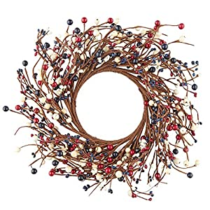 Factory Direct Craft 14 Inch Mixed Berry Wreath for Indoor Home Decor 16