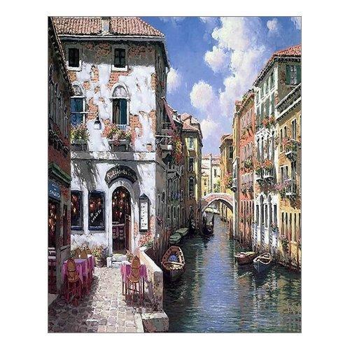 (Beautiful Modern Art Watercolor Painting Color Italy Venice Canvas Print Wall Art 16