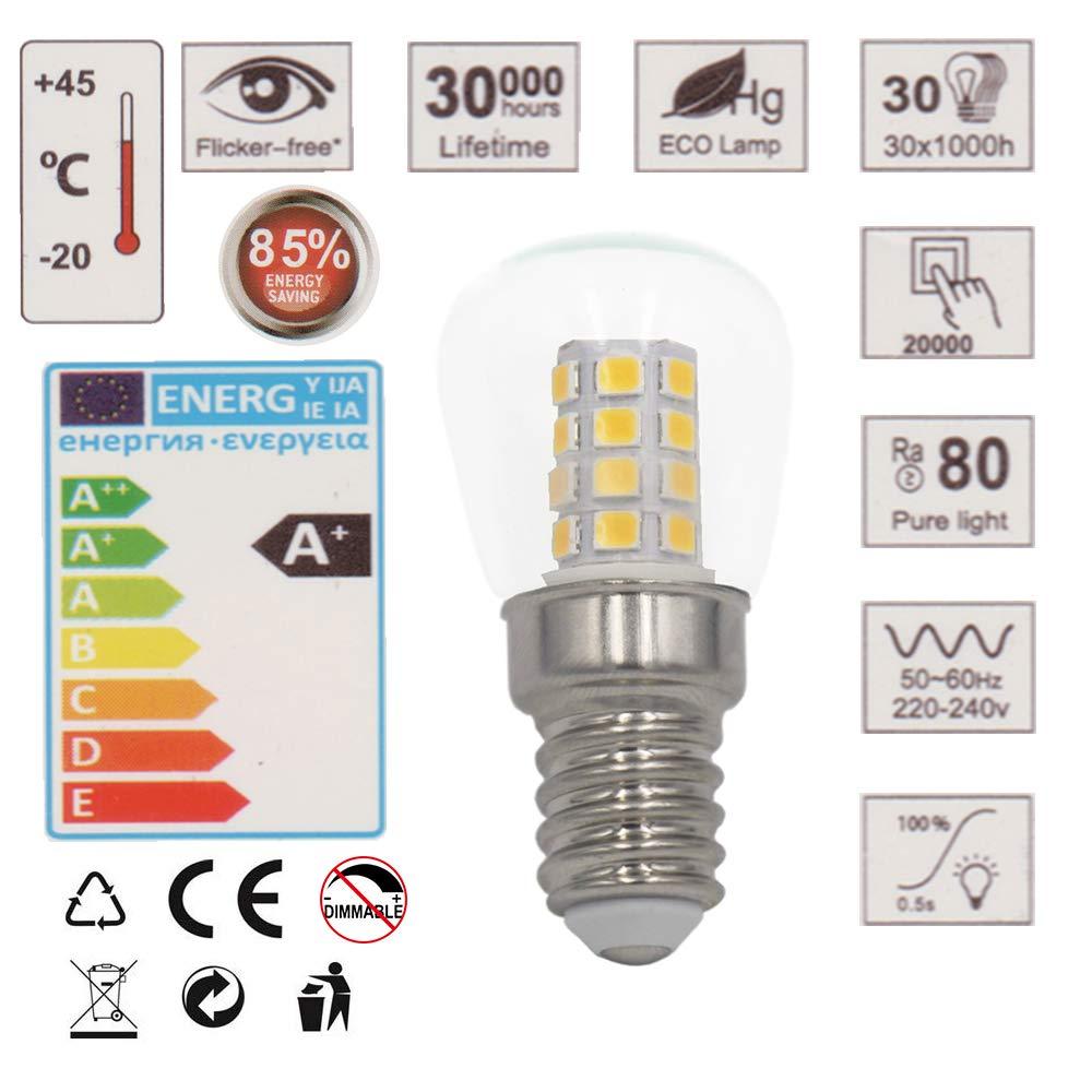 3W E14 LED Frigorífico Congelador Bombillas Pack de 10 Blanco Frío ...