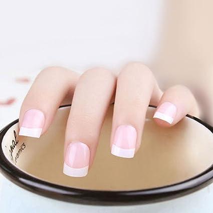 Puntas de uñas postizas Jovono estilo francés (tamaño mediano. Pasa ...