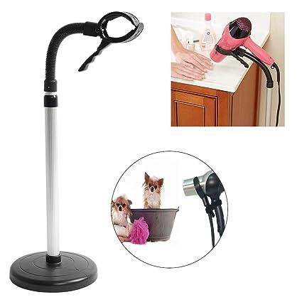 Soporte para secador de pelo, secador de pelo ajustable y con estilo, soporte para secador de ...