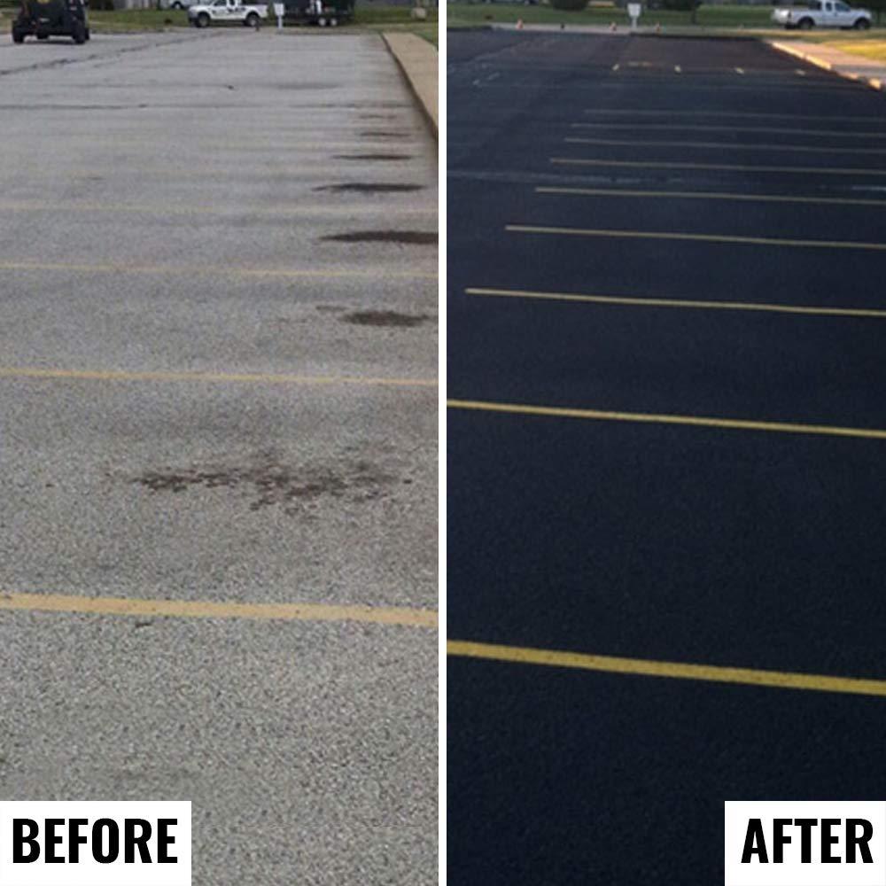 Premium Driveway Sealer & Asphalt Sealer | Sealer for Driveways Blacktop & Asphalt | Commercial Grade - 5 Gallon by FDC Chem (Image #4)