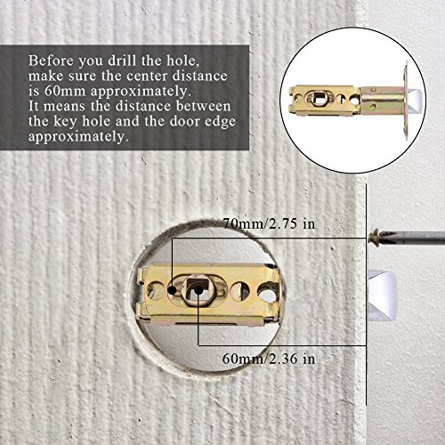 Fdit Door Lock Smart Keyless Digital Electronic Touchscreen Keypad Lever Lockset Security Entry Door Code Lock with 5 RFID Card Tags Knob Handle Stainless Steel Left/Right-Free Handed