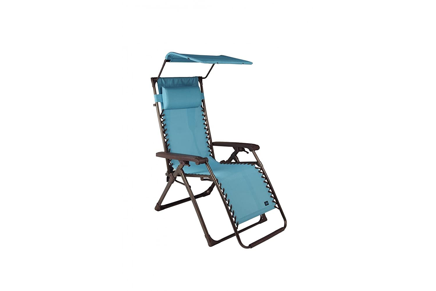 Medium image of amazon     bliss adjustable reclining outdoor lounge zero gravity chair with headrest   garden  u0026 outdoor