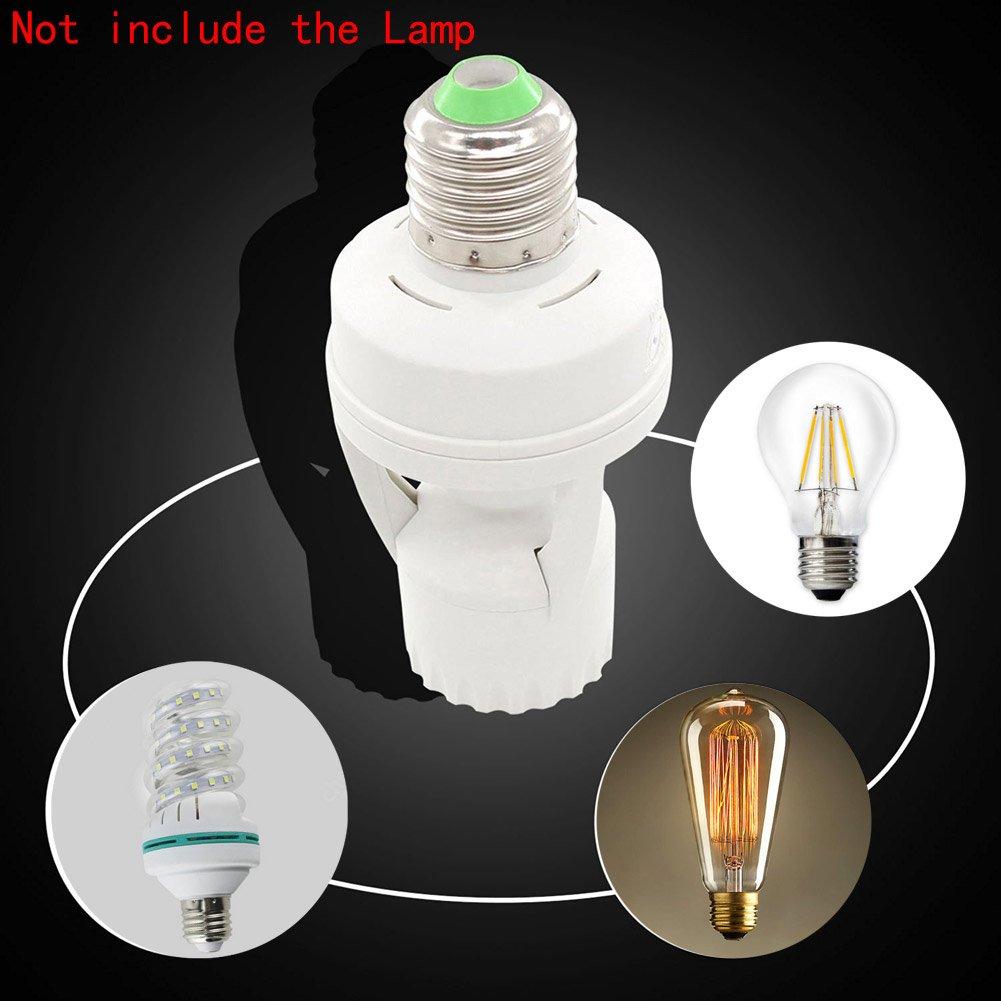 EBILUN E27 // E14 // B22 Douille /à vis pour ampoule LED PIR d/étecteur de mouvement infrarouge 55 * 115mm Dia*H 1pcs E14