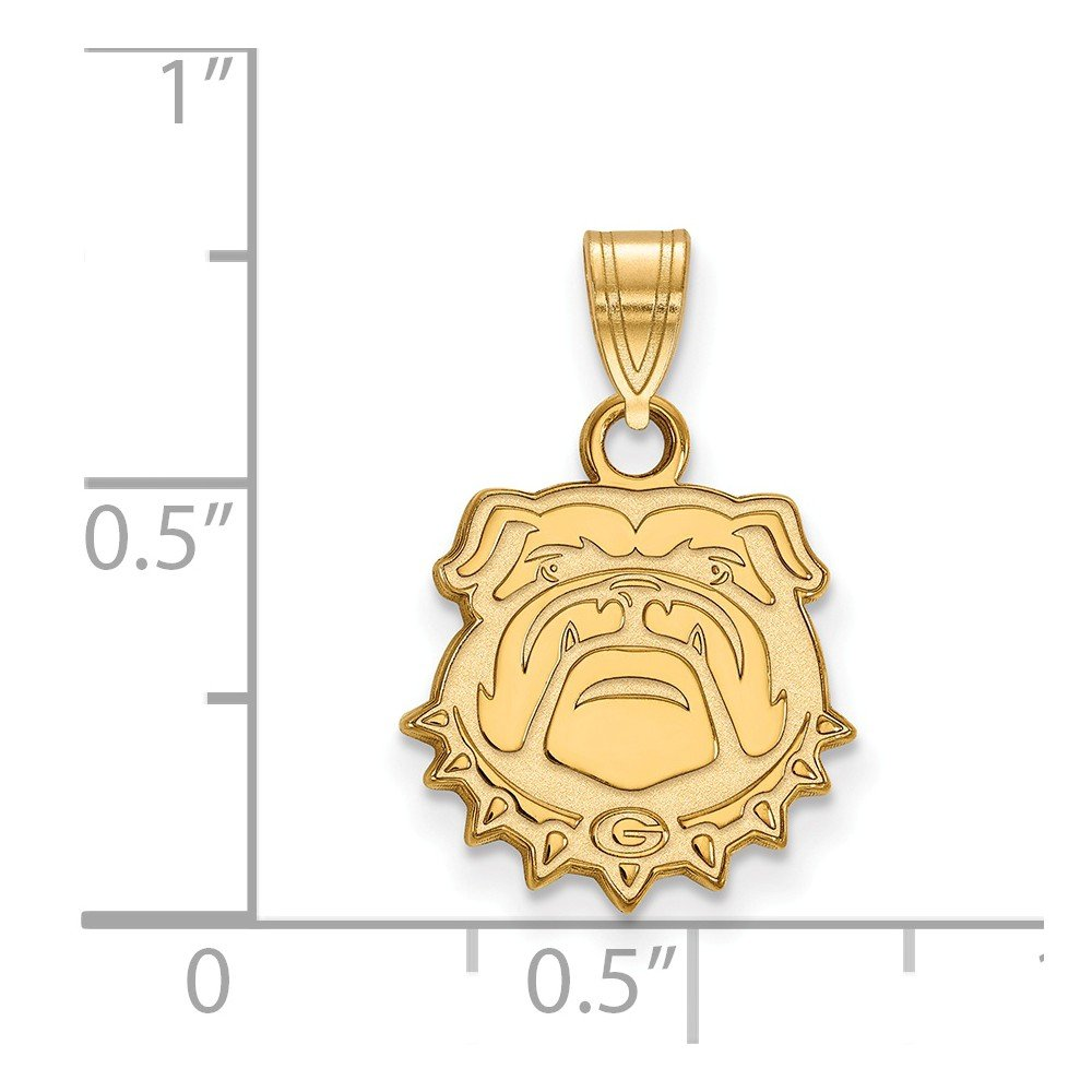Jewel Tie 925 Sterling Silver with Gold-Toned University of Georgia Small Pendant