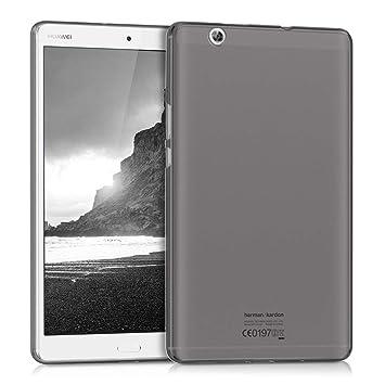 kwmobile Funda para Huawei MediaPad M3 8.4 - Carcasa trasera para tablet de silicona TPU - Cover en negro