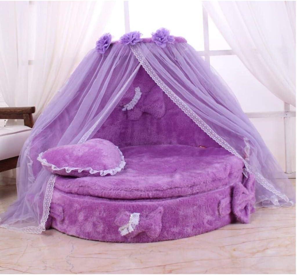 WJGRB ペット用品、取り外し可能および洗えるペットマット、ペット用ベッド、小型犬用プリンセスベッド、完全に取り外し可能および洗える pet bed (Color : A) A