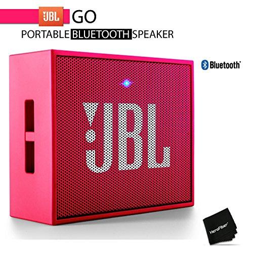 JBL GO Portable Wireless Bluetooth Speaker W/ A Built-In Strap-Hook (PINK)