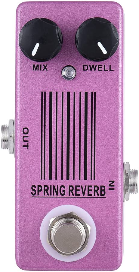 ammoon Pedal de Efecto de Guitarra MOSKY MP-51 Spring Reverb Mini Single True Bypass