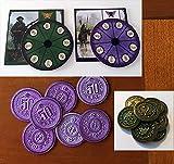 Scythe : Non-Kickstarter Promotional Bundle Power Dials, Togawa, Albion Coins (#8, #9,#10)