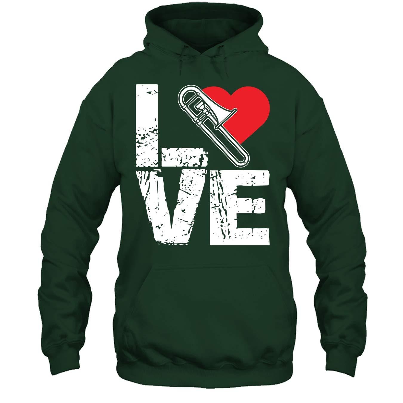 Love Trombone Tshirt Trombone Cool Tee Shirt