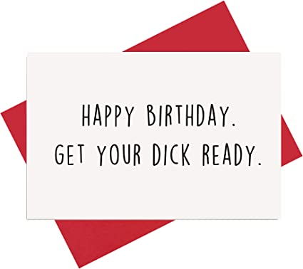 Rude Birthday Card Naughty Birthday Card Dont Think I care About You Greeting Card Funny Birthday Card Friend Birthday Card