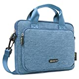 Evecase 9.7 - 10.1 inch Classic Padded Briefcase Messenger Bag with Shoulder Strap and Handle For iPad and Tablets - Blue