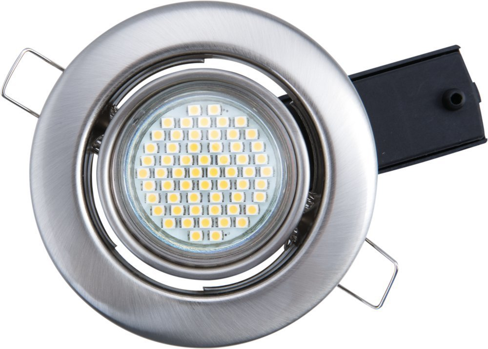 Heitronic LED Deckenleuchte Houston Chrom-matt IP20   Inklusive Leuchtmittel Leuchtmittel Leuchtmittel  GU10 3W 180lm warmweiß   30414 cf7959