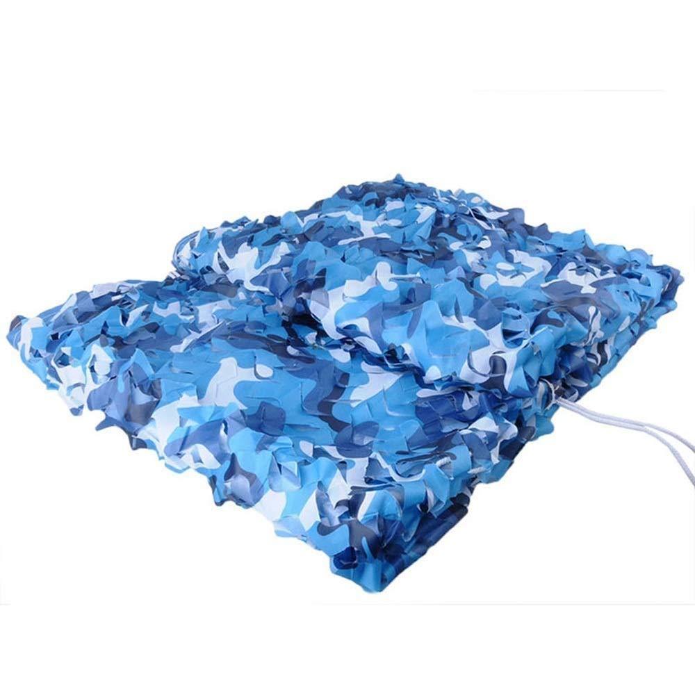 5x6m DGLIYJ Filet de Camouflage Bleu de mer, Stores de Type Camo, Parfaits pour la Prise de Vue en Camping de Parasol Taille Personnalisable (Taille   5x6m)