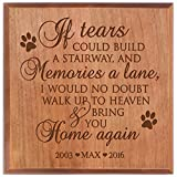 Pet Urns SMALL Sympathy Keepsake box PERSONALIZED pet urn for ashes If Tears Could Build A stairway SMALL portion of ashes 5.5
