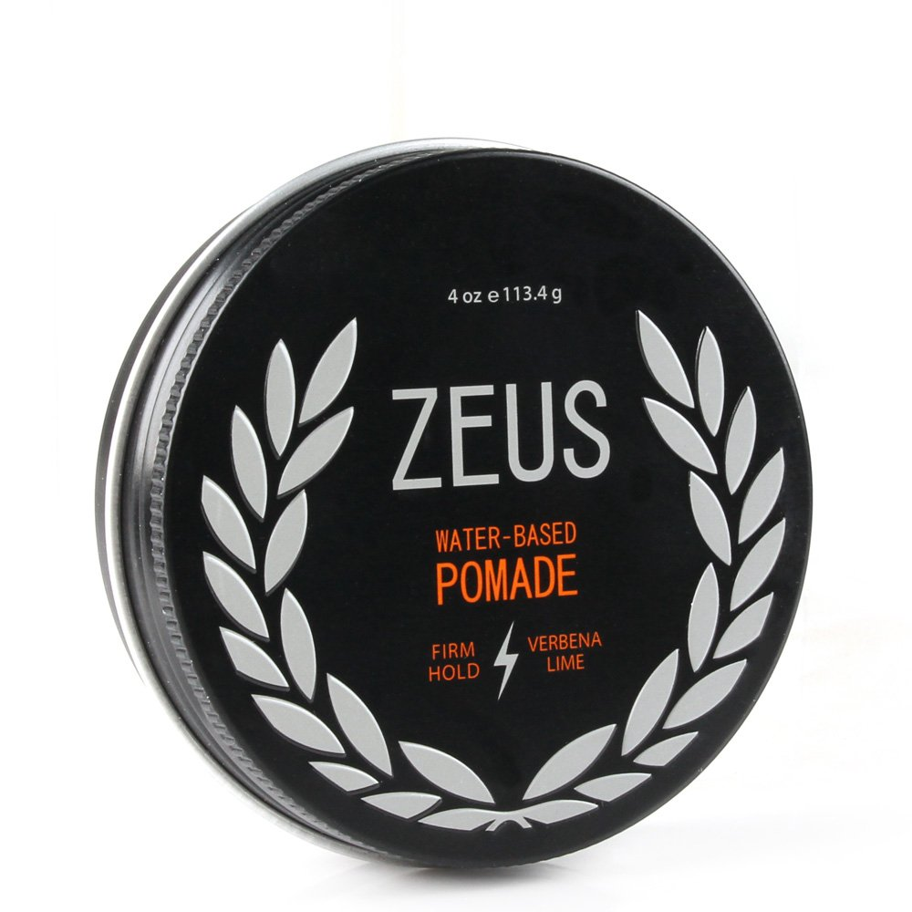 Zeus Firm Hold Pomade for Men - Paraben Free - Firm Hold Styling Pomade for All Hair Types (4.0 oz Jar)