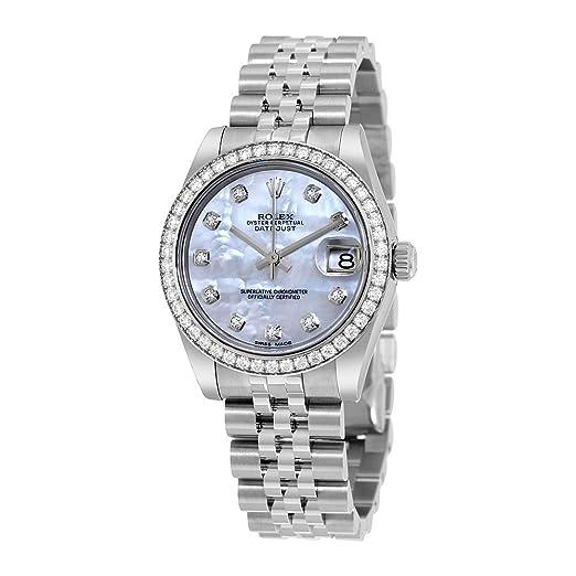 Rolex Datejust Lady 31 madre de Pearl Dial Acero inoxidable reloj automático de Jubileo de Rolex 178384 mdj: Amazon.es: Relojes