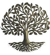 Metal Tree of Life Roots, Large Tree, Rustic Farmhouse Decor, Nature Inspired, Handmade in Haiti,...