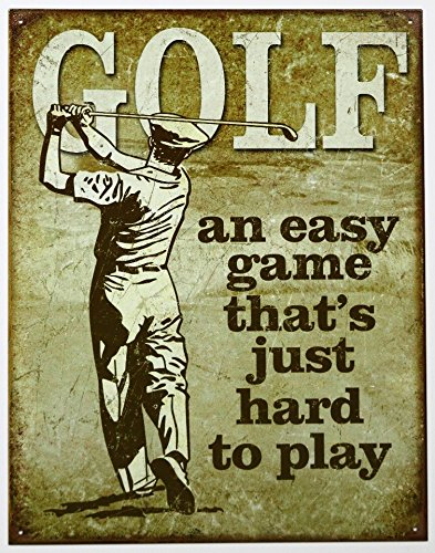 Golf - Easy Game Tin Sign 13 x 16in Sports Metal Signs