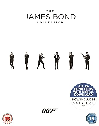 b4953b966 The James Bond Collection 1-24  Blu-ray   2017   Amazon.co.uk  Sean ...